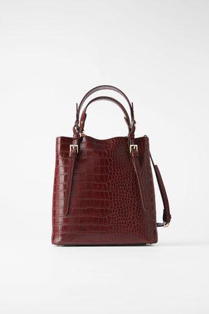 Zara Mala tote bag com estampado animal