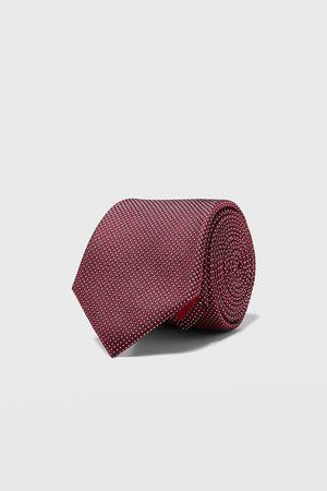 Zara Gravata larga jacquard geométrico