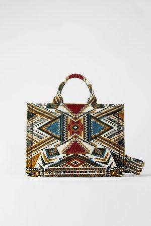 Zara Mala tote bag estampado geométrico