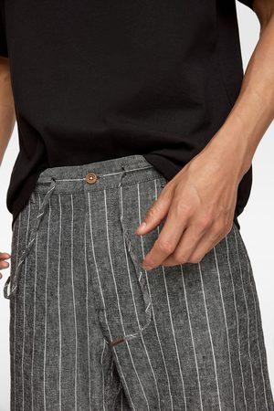 Zara Calções bermuda rústicos riscas