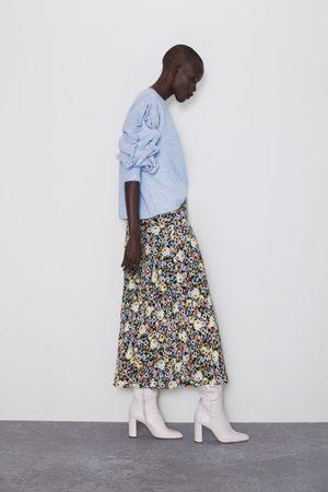 Zara Saia com estampado floral