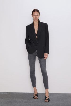 Zara Senhora Cintura Subida - Jeans zw premium 80's high waist inox black