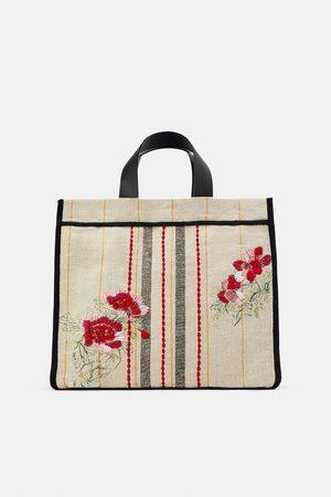 Zara Mala tote bag de tecido bordado