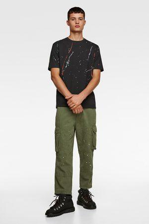 Zara T-shirt estampado salpicos tinta