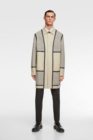Zara Trench patchwork quadrados traveler