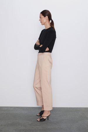 Zara Senhora Calças - Calças com dobra na parte inferior