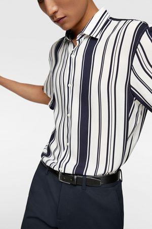 Zara Homem Formal - Camisa estampado riscas