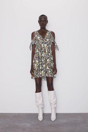 Zara Vestido com print floral e laços