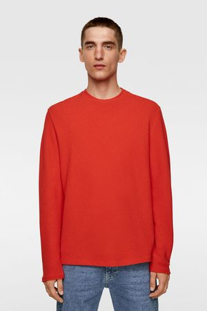 Zara Homem Camisolas sem capuz - Sweater com estrutura ottoman