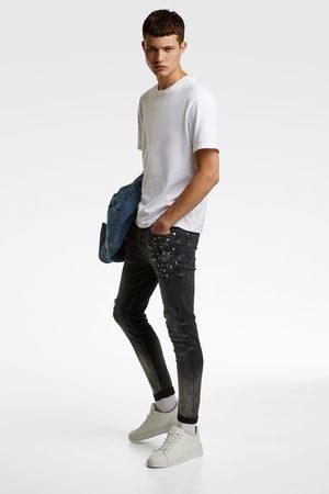 Zara Homem Denim skinny fit com efeito lavado