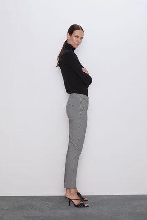 Zara Senhora Calças - Calças aos quadrados vichy