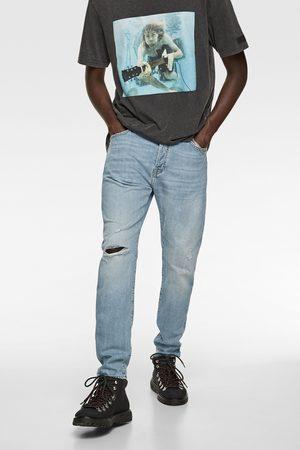 Zara Jeans slim rasgões