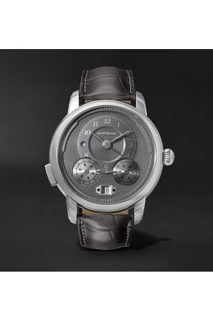 Mont Blanc Star Legacy Nicolas Rieussec Automatic Chronograph 44mm Stainless Steel and Alligator Watch, Ref. No. 119954