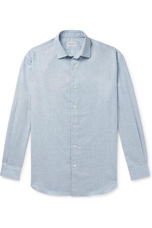 Charvet Homem Casual - Cotton And Wool-blend Flannel Shirt