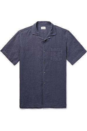 HARTFORD Homem Formal - Camp-collar Linen Shirt