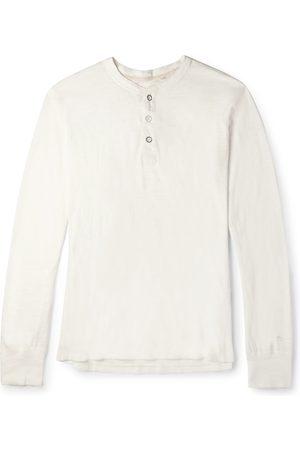 RAG&BONE Slim-Fit Mélange Cotton-Blend Jersey Henley T-Shirt