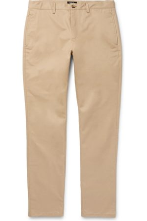 A.P.C Navy Classic Cotton-gabardine Chinos