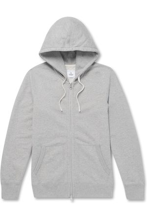 Reigning Champ Homem Camisolas com capuz - Slim-fit Mélange Loopback Cotton-jersey Zip-up Hoodie