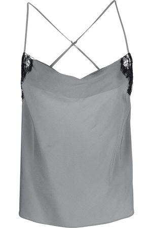 Kiki de Montparnasse Cowl-neck camisole top