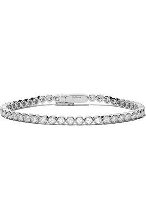 De Beers 18kt Diamond Line bezel-set bracelet