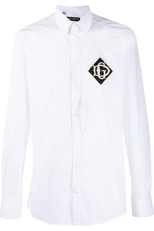 Dolce & Gabbana Embroidered logo patch shirt
