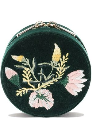 Wolf Floral round jewellery box