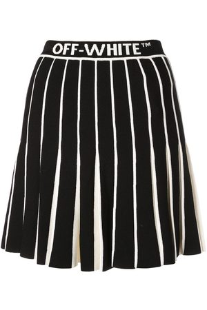 OFF-WHITE Contrasting pleated skirt