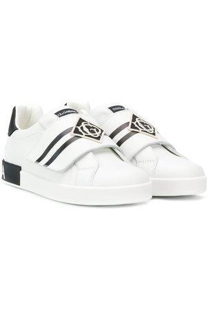Dolce & Gabbana Touch-strap stripe sneeakers