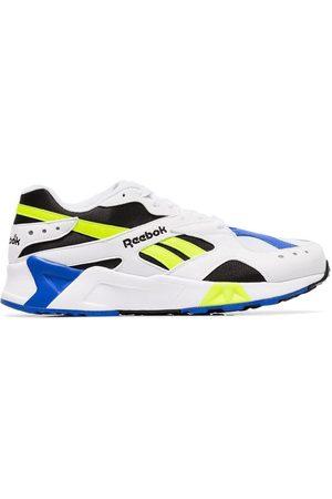 Reebok Multicoloured Aztrek faux leather low top sneakers
