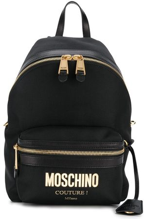 Moschino Logo plaque backpack