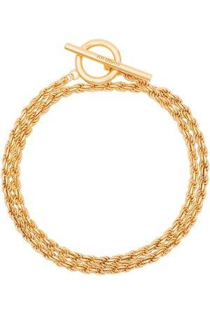 ALL BLUES Rope polished vermeil bracelet
