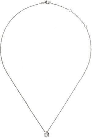De Beers 18kt My First Aura pear-shaped diamond pendant necklace