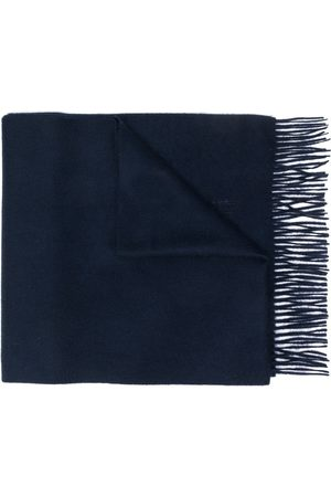 MACKINTOSH Navy Cashmere Embroidered Scarf ACC-013/E