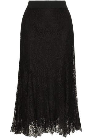Dolce & Gabbana Fluted lace midi skirt
