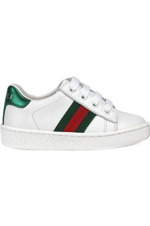 Gucci Menino Tops & T-shirts - Leather low-top with Web