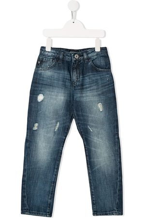 Emporio Armani Kids Distressed skinny jeans