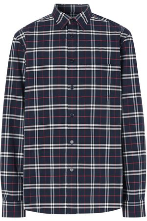 Burberry Checked slim-fit shirt