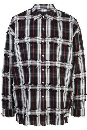 MOSTLY HEARD RARELY SEEN Drop shoulder plaid shirt