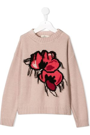 Le pandorine Menina Camisolas - Floral knitted jumper