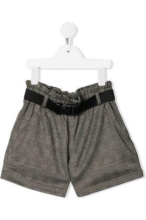 Le pandorine Check print shorts