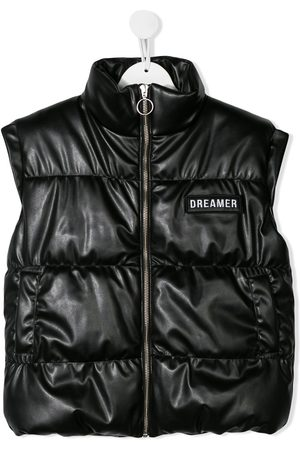 Le pandorine Puffer leather look gilet