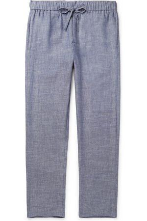 Frescobol Carioca Homem Calças - Linen And Cotton-blend Drawstring Trousers