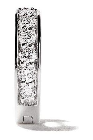 ALINKA 18kt white gold IRINA diamond huggie earring