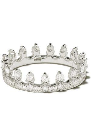ANNOUSHKA Senhora Anéis - 18kt white gold Crown diamond ring