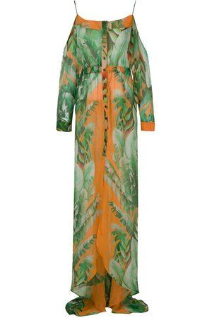 Amir Slama Printed maxi silk dress