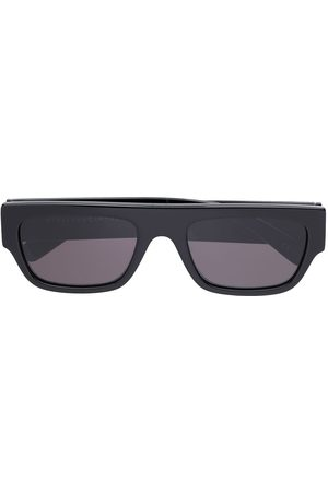 Stella McCartney Óculos de Sol - Rhinestone logo rectangular-frame sunglasses