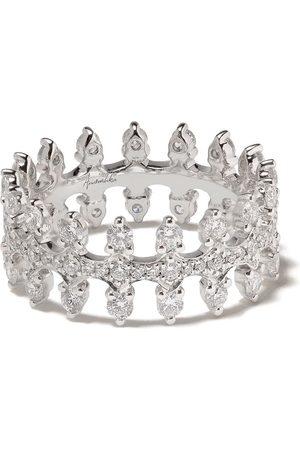 ANNOUSHKA 18kt white gold Crown diamond ring