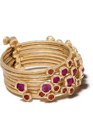 ANNOUSHKA 18kt yellow gold Hidden Reef sapphire ring