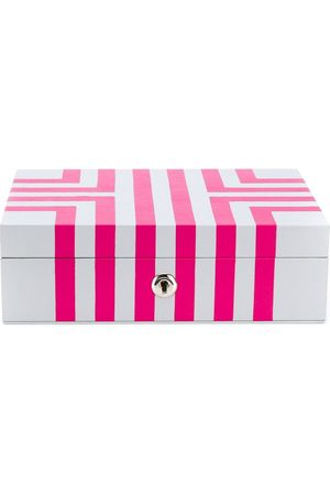 RAPPORT MAZE JEWELLERY BOX IN WHITE AND PINK LEA