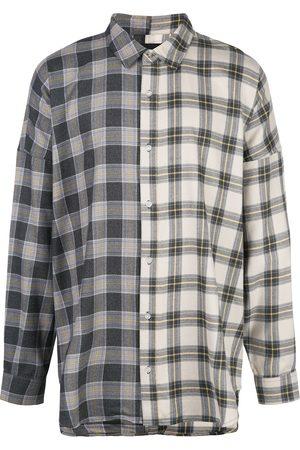 MOSTLY HEARD RARELY SEEN Plaid colour block shirt